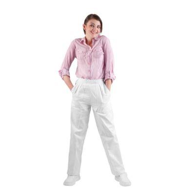 APUS NŐI fehér 100 % pamut női deréknadrág