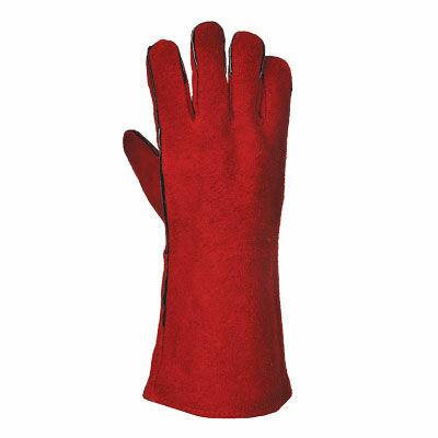 A500 Hegesztő hosszú szárú kesztyű, piros