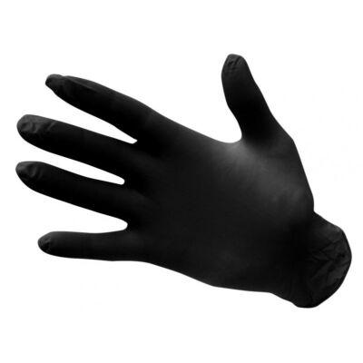 A925BKR Egyszerhasználatos nitril kesztyű, púdermentes fekete (100 db)