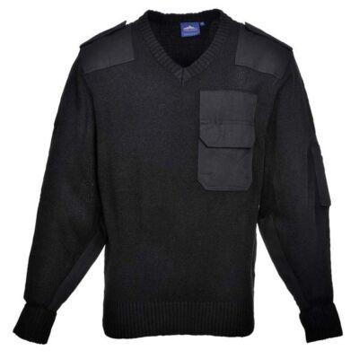 B310 A NATO pulóver, 100% akril, pamut rátétek