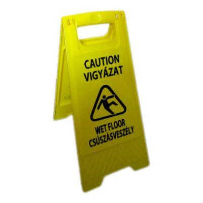HV20H Csúszásveszély figyelmeztető tábla, magyar felirattal