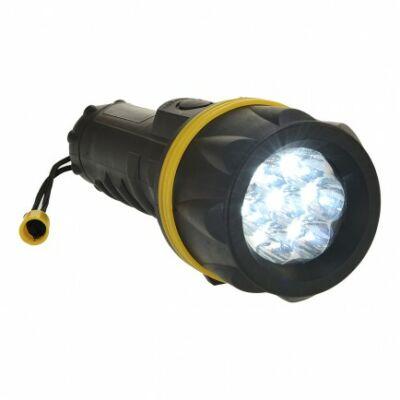 PA60 - 7 LED gumi zseblámpa