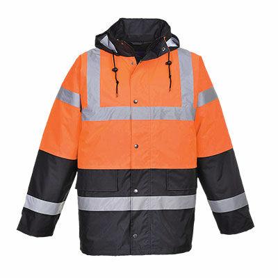 S467O/N Kéttónusú Traffic kabát NARANCS/KÉK