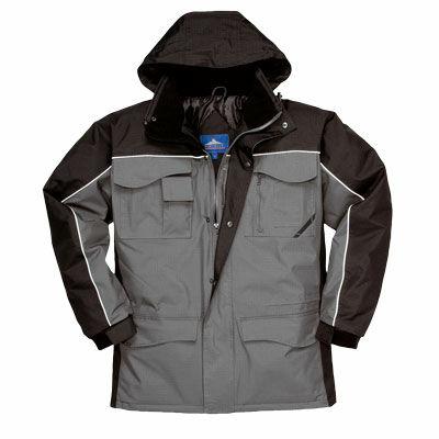 S562B/G Ripstop kéttónusú kabát FEKETE/SZÜRKE