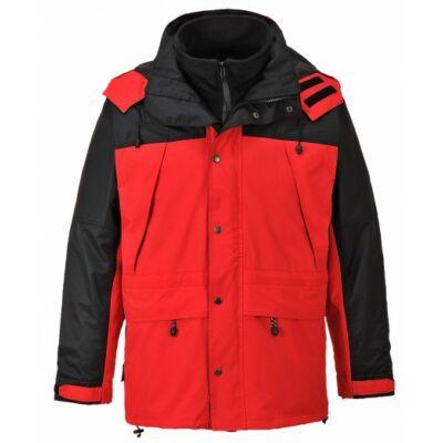 S532R/B Orkney 3 az 1-ben lélegző kabát PIROS/FEKETE